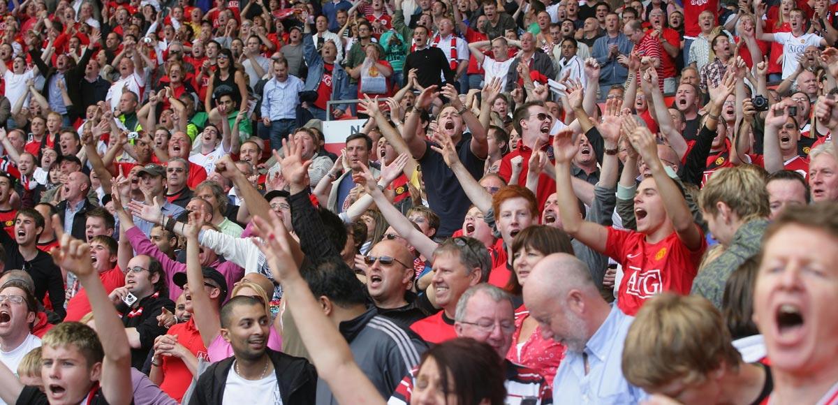 United fans celebrate via redmancunian.com