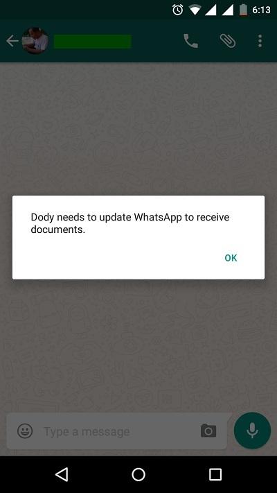 Fitur WhatsApp Dokumen