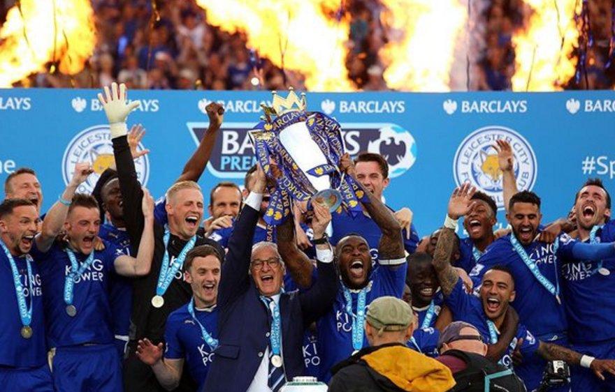 Gambar Leicester Juara
