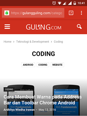Theme Color Chrome Android