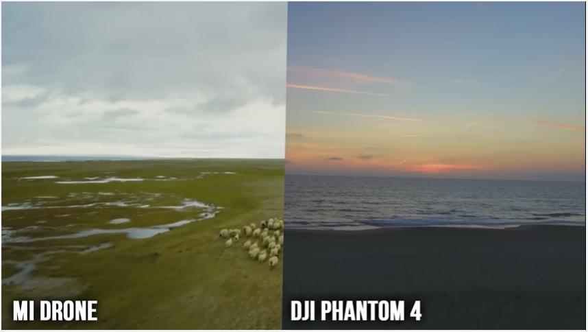 Perbedaan Hasil Video Phantom 4 dan MI Drone