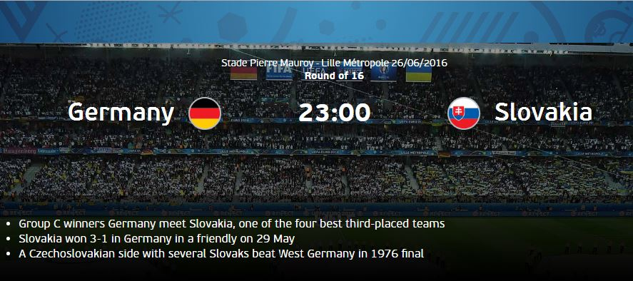 Prediksi Pertandingan Jerman vs Slovakia EURO 2016