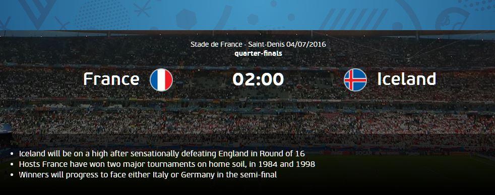 Gambar Pertandingan Perancis vs Islandia EURO 2016