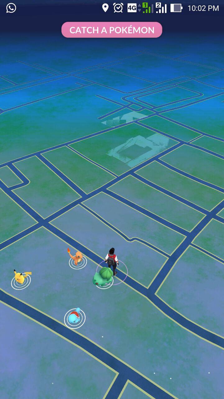 Mencari Pokemon pada Game Pokemon-GO