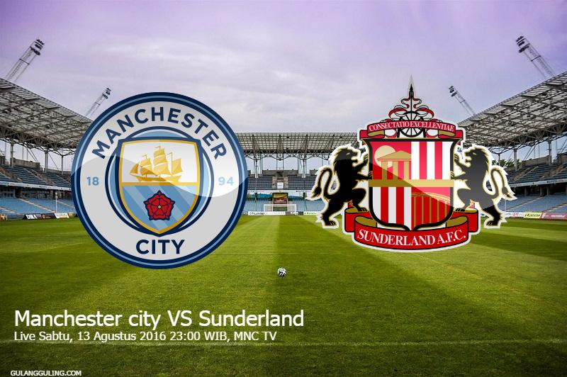 Gambar Jadwal Pertandingan Manchester City vs Sunderland MNCTV