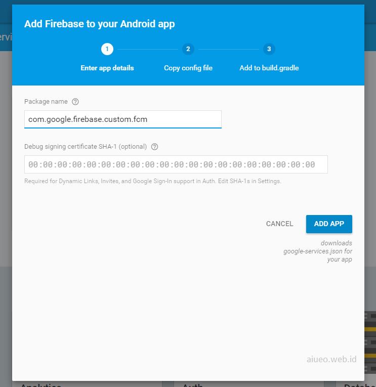 Firebase Cloud Messaging Add Project Push Notifications