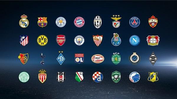 Gambar Daftar Klub Liga Champions via @championsleague