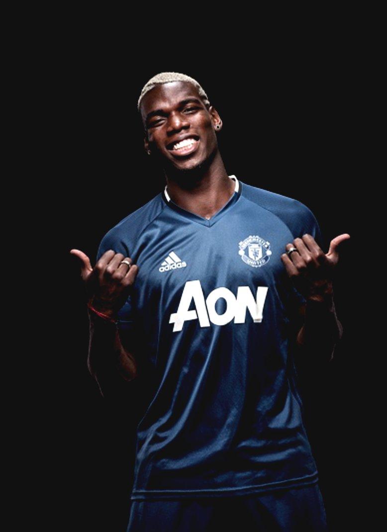 Gambar Paul Pogba berseragam Manchester United
