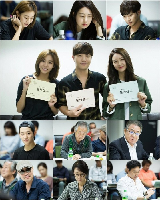 Para pemeran drama Night Light saat script reading pertama via soompi
